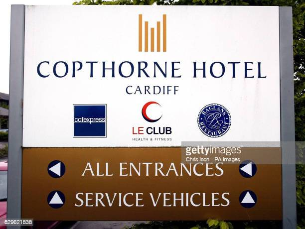 A sign at the entrance of the Copthorne Hotel in Cardiff where two people died after contracting Legionnaires' Disease It is alleged the virus was...