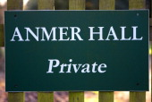A sign at the entrance to Anmer Hall on the Sandringham Estate on January 13 2013 in King's Lynn England It has been reported that Queen Elizabeth II...