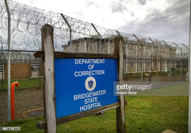 A sign at the entrance to the Bridgewater State Hospital in Bridgewater MA is pictured on Dec 6 as a visit to the facility takes places during the...
