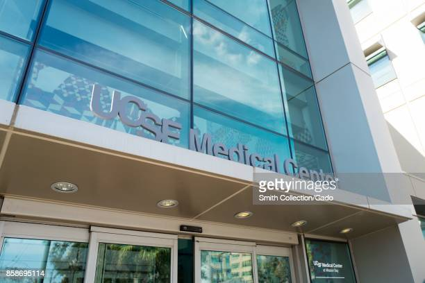 Sign at the entrance to the Mission Bay campus of the University of California San Francisco medical center in San Francisco California September 29...