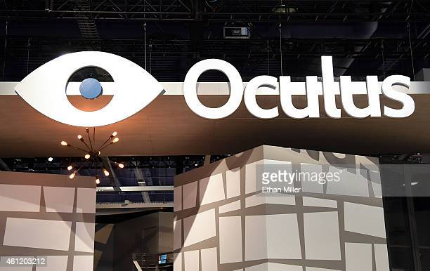 A sign at the Oculus VR booth at the 2015 International CES at the Las Vegas Convention Center on January 8 2015 in Las Vegas Nevada CES the world's...