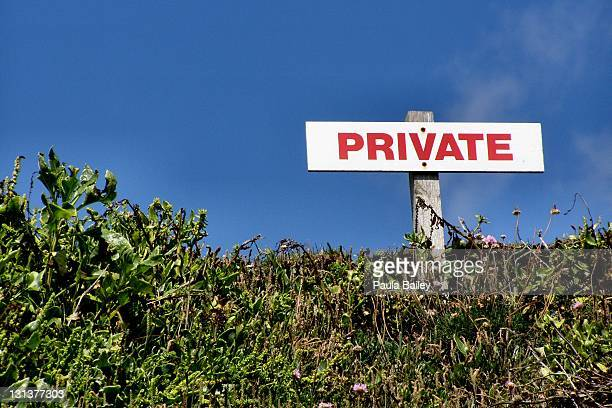 Sign board covered in wild foliage