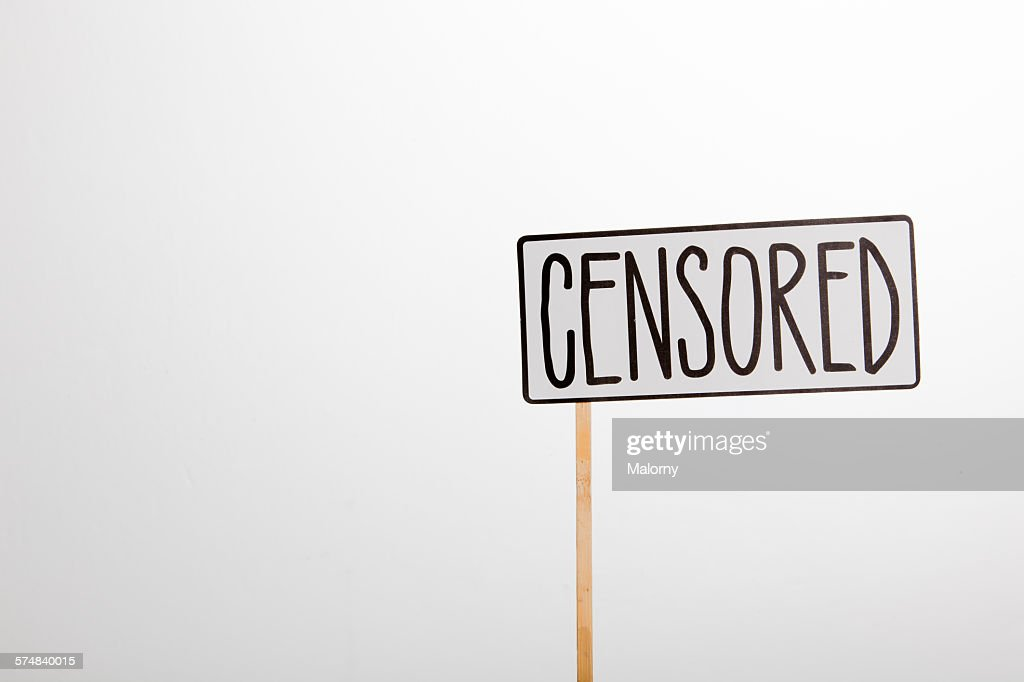 Sign: censored