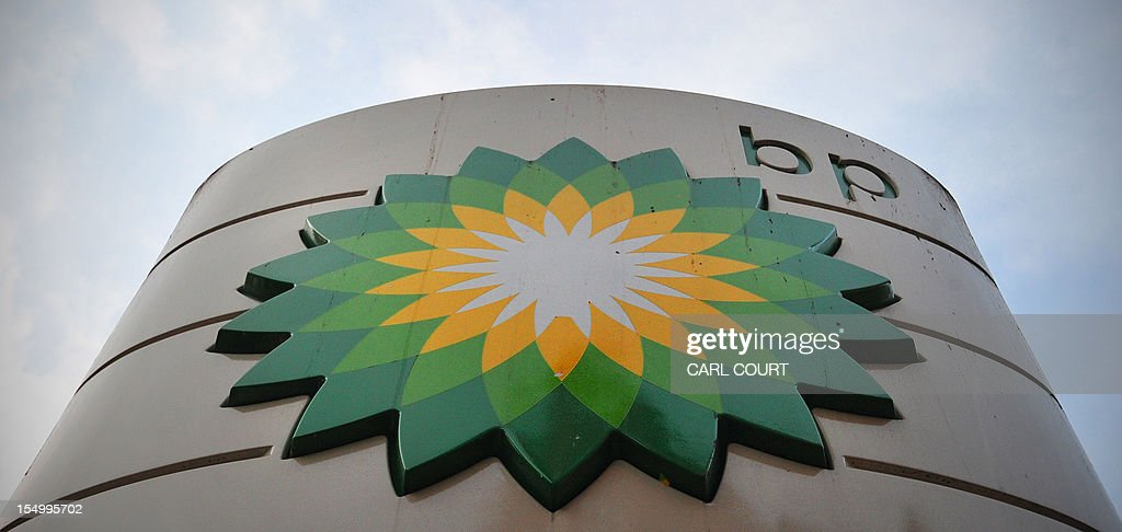A sign for a BP filling station is pictured in central London on October 30, 2012. BP posted earnings far stronger than expected and hiked its dividend as the British energy giant prepared for a new Russia adventure after being rocked by the devastating Gulf of Mexico oil spill.