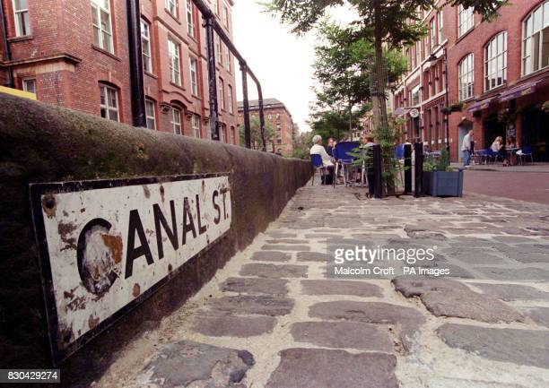 A sign for Canal Street Manchester a famous gay district of the city