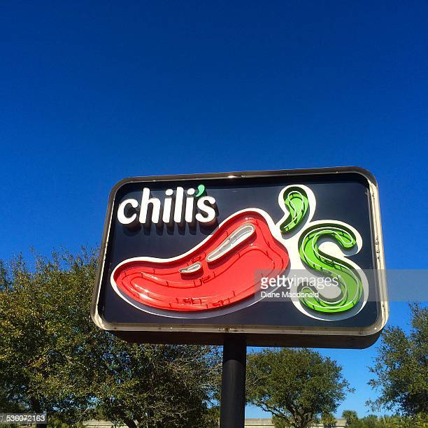 Sign for Chili's restaurant at Jacksonville Beach Florida USA