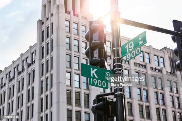 Sign for Famous K Street in Washington DC, home of the lobbyists.