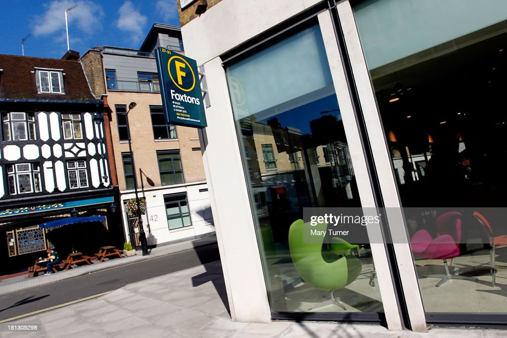 A sign for Foxtons Estate Agents in Marylebone on September 20, 2013 in London, England. Foxtons has been valued at £649 million ahead of its full stock market listing. Shares in the company were priced at GBP 2.30 each.