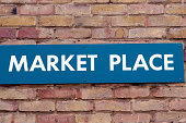 Sign for market place