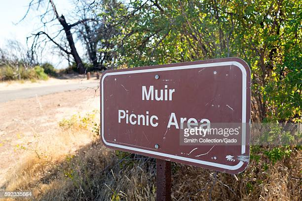 Sign for Muir Picnic Area named for naturalist John Muir on Mount Diablo in the San Francisco Bay Area August 13 2016