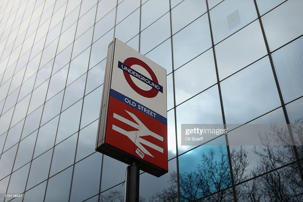 A sign for Old Street tube station on the Old Street roundabout in Shoreditch which has been dubbed 'Silicon Roundabout' due to the number of technology companies operating from the area on March 15, 2011 in London, England. The relatively low rental rates and proximity to media and internet companies has made the area close to the roundabout a prime location for IT firms and web entrepreneurs.