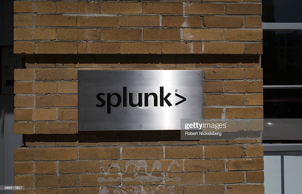 A sign for the main office of Splunk is viewed April 14, 2014 in the heart of the start-up district in San Francisco, California. Splunk designs and produces software for searching, monitoring, and analyzing machine-generated data. The company is located in the SOMA area of San Francisco, or South of Market Street.