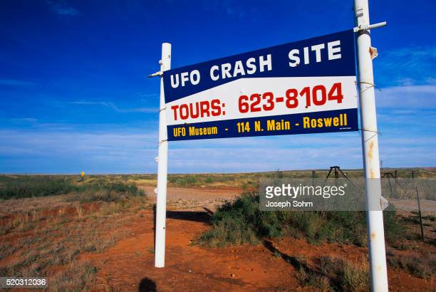 Sign for UFO Tours