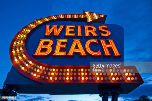Sign for Weirs Beach