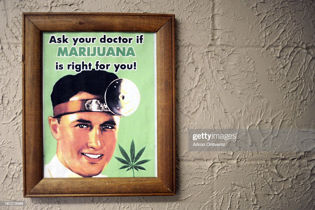 A sign hanging in Kevin Ballinger's at his medical marijuana shop, Herb's Medicinals, in Berthoud on Thursday, February 23, 2012. AAron Ontiveroz, The Denver Post