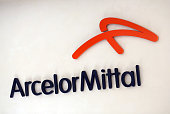 A sign hangs in the reception area of ArcelorMittal at the company's offices in London UK on Wednesday Sept 9 2015 Aditya Mittal chief financial...