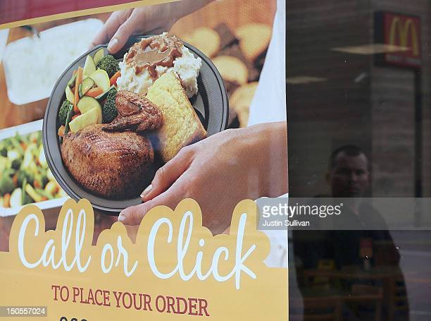 A sign hangs in the window of a Boston Market restaurant on August 21 2012 in San Francisco California Restaurant chain Boston Market announced today...