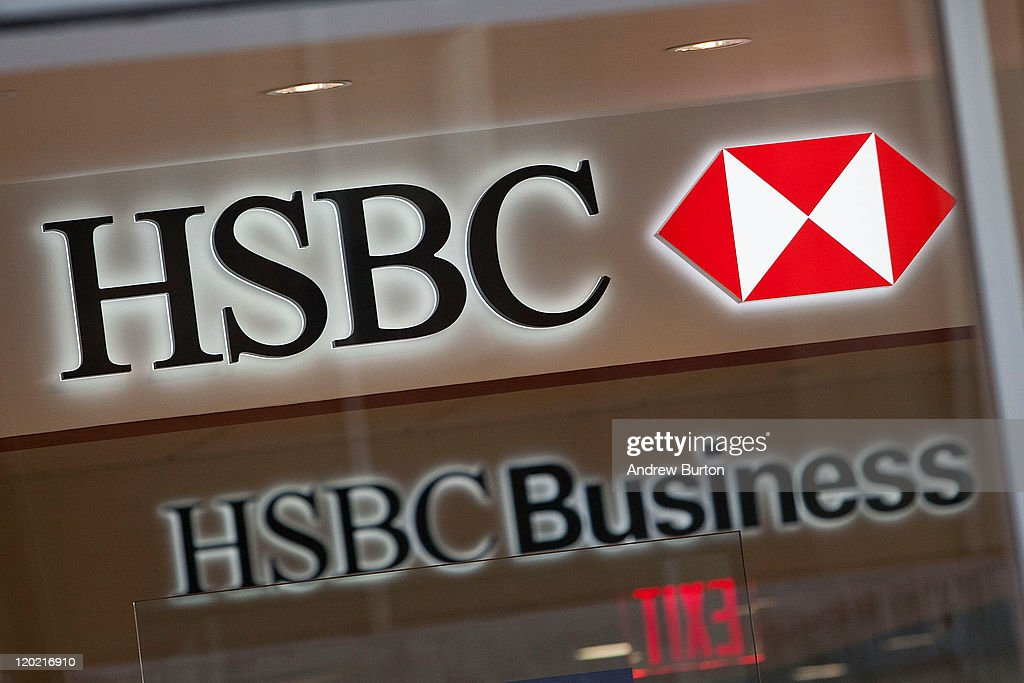 A sign hangs on a HSBC Bank branch at 110 William Street August 1, 2011 in New York City. According to reports. HSBC will eliminate 30,000 jobs worldwide and sell 195 branches, mostly in upstate New York, to First Niagara Financial for about $1 billion.
