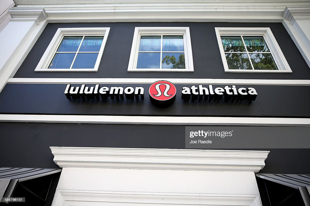 A sign hangs on a Lululemon Athletica on December 10 2013 in Miami Florida Lululemon Athletica Inc named Laurent Potdevin as their new chief...