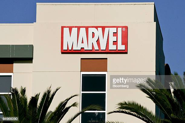 A sign hangs on the outside of Marvel Studios a unit of Marvel Entertainment Inc in Manhattan Beach California US on Monday Aug 31 2009 Walt Disney...