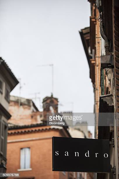 A sign hangs outside a Sandro luxury clothing store operated by SMCP Group in Toulouse France on Wednesday Feb 10 2016 Shandong Ruyi Group the...