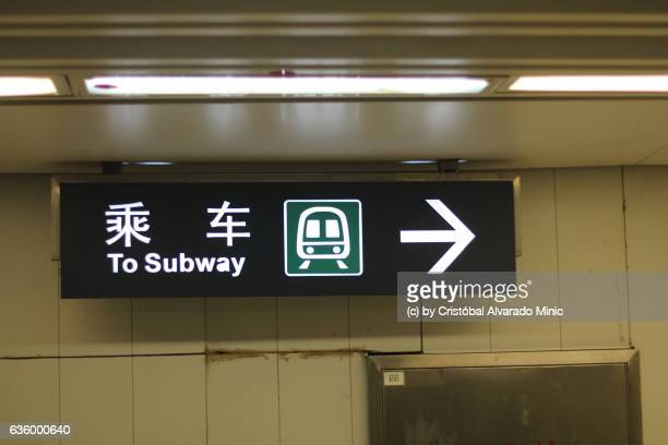 Sign In Beijing Subway