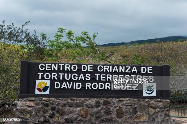 Sign in front of Galapagos Tortoise Breeding Center
