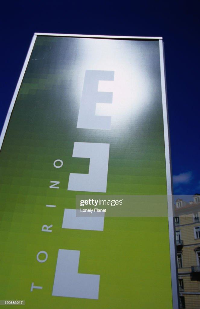 Sign in front of Torino Atrium. : Stock Photo