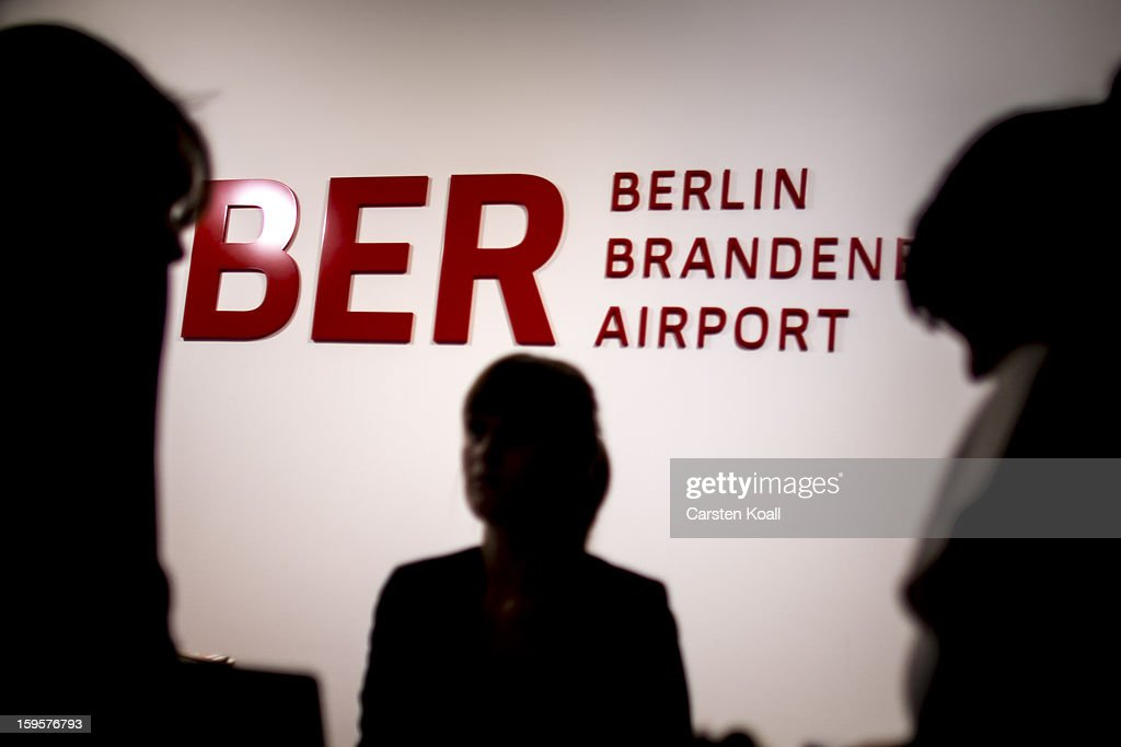 A sign indicating the name of the new Berlin airport is seen in the press center after a meeting of the Governing Board of the new Willy Brandt Berlin Brandenburg International Airport in which airport head Rainer Schwarz was dismissed on January 16, 2012 in Schoenefeld, Germany. The new airport, which was due to open in 2011 and through successive delays will not open until 2014 at the earliest, has been plagued by construction complications and skyrocketing costs. Opposition leaders are calling for the resignation of Berlin Mayor Klaus Wowereit, who until recently chaired the Governing Board, though he has thus far refused to give up his post as mayor.