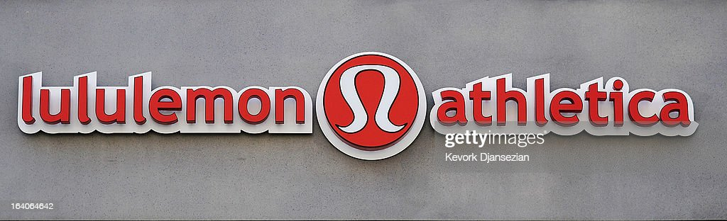 A sign is displayed at a Lululemon Athletica Inc store on March 19 2013 in Glendale California Lululemon removed some of its popular pants from...