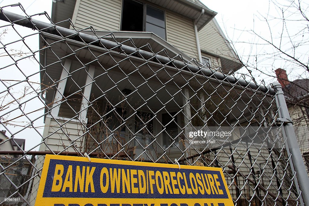 A sign is displayed in front of a foreclosed home on March 12, 2010 in Bridgeport, Connecticut. A new report by RealtyTrac Inc. announced that the number of foreclosed homes in Connecticut, one of the nation's wealthiest states, is up 3.4 percent from January to February of this year. Nationwide foreclosures have decreased by two percent from January to February. The report, which was released yesterday, says there were nearly 2,300 foreclosure filings in Connecticut last month, compared with nearly 2,200 in January.