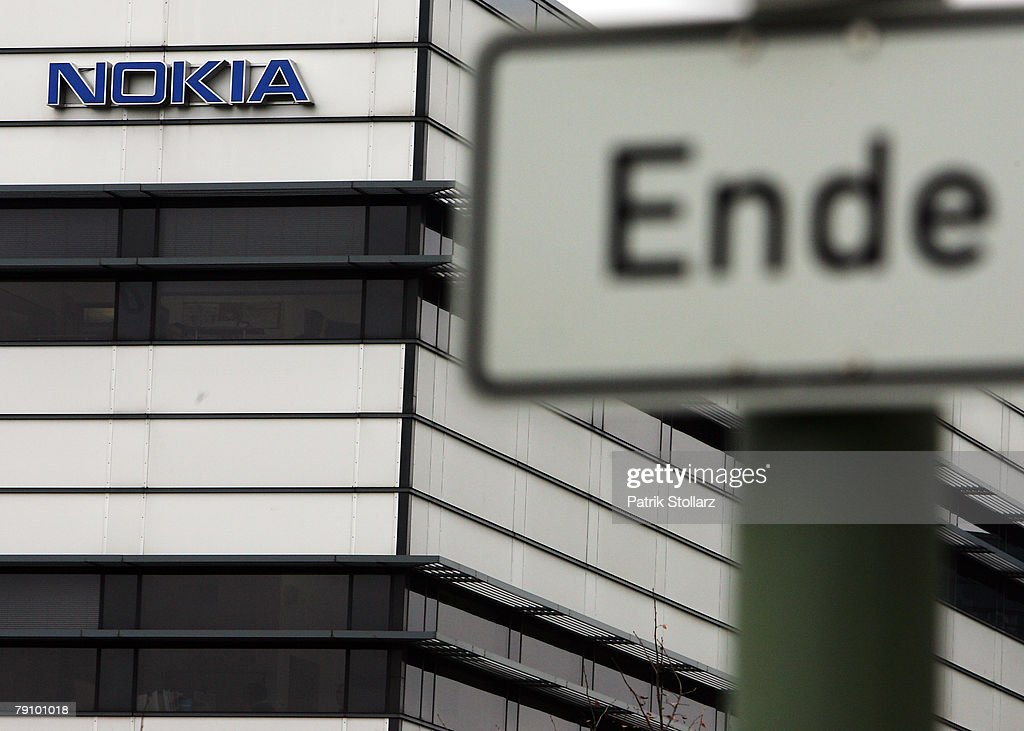 A sign is pictured in front of Finland's mobile phone manufacturer Nokia company's plant on January 18, 2008 in Bochum, Germany. A confederation of German unions warned that the decision by Nokia to close its plant in Bochum threatened the region's economic future.