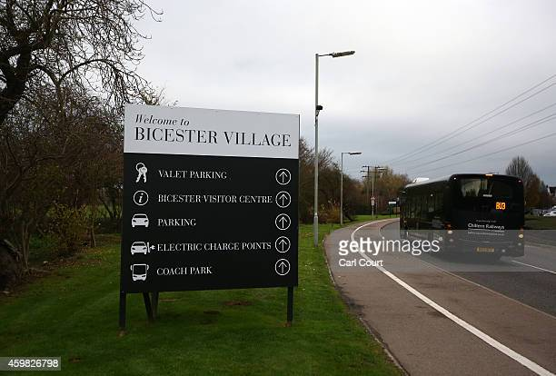 A sign is pictured near the Bicester Village Retail Discount Retail Park on December 2 2014 in Bicester England Up to 13000 new homes are due to be...