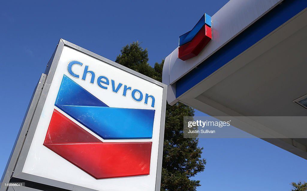 A sign is posted at a Chevron gas station on July 27, 2012 in San Rafael, California. Chevron reported a 6.8 percent decline in second quarter earnings with profits of $7.21 billion compared to $7.73 billion one year ago.