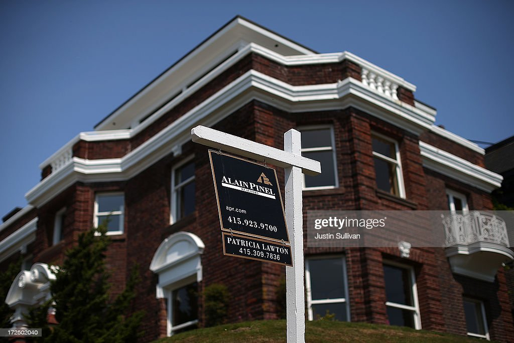 A sign is posted in front of a home for sale on July 2, 2013 in San Francisco, California. According to a report by real estate data provider CoreLogic, home prices in the U.S. surged 12.2 percent in May compared to a year ago, the largest increase in seven years.