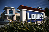 A sign is posted in front of a Lowe's home improvement store on November 18 2015 in South San Francisco California Lowe's reported betterthanexpected...