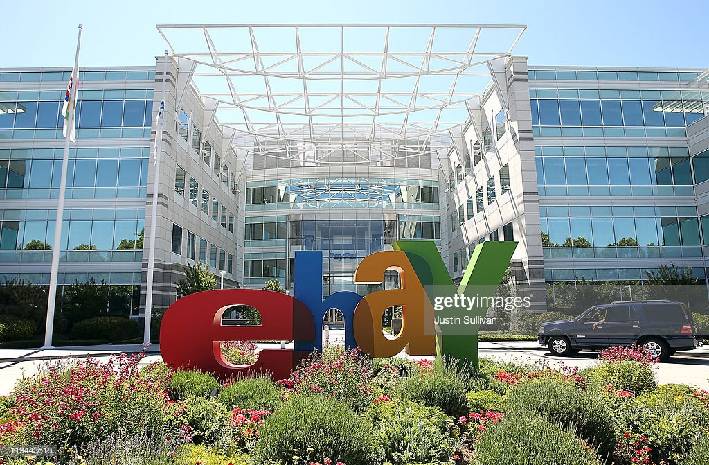 A sign is posted in front of eBay headquarters on July 20, 2011 in San Jose, California. Online auction site eBay will report quarterly earnings today after the market closes today.