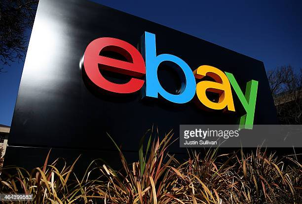 A sign is posted in front of the eBay headquarters on January 22 2014 in San Jose California eBay Inc will report fourth quarter earnings today after...