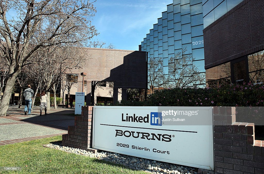 A sign is posted in front of the LinkedIn headquarters on February 11, 2011 in Mountain View, California. Online business networking site LinkedIn filed paperwork with the Securities and Exchange Commission in January for an initial public offering later this year.