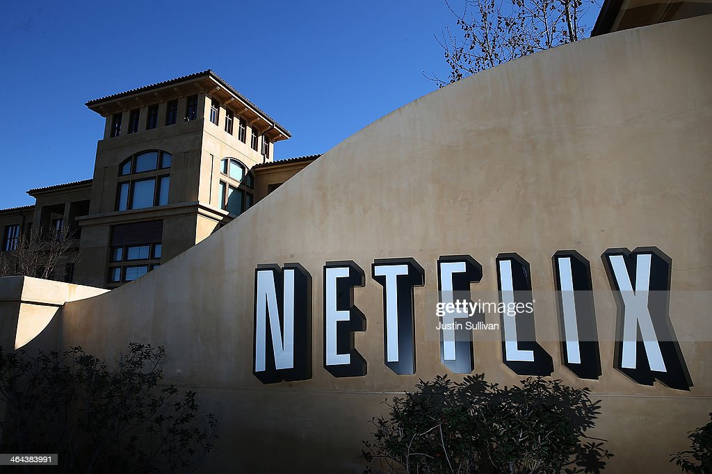 A sign is posted in front of the Netflix headquarters on January 22 2014 in Los Gatos California Netflix will report fourth quarter earnings today...
