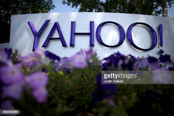 A sign is posted in front of the Yahoo headquarters on May 23 2014 in Sunnyvale California