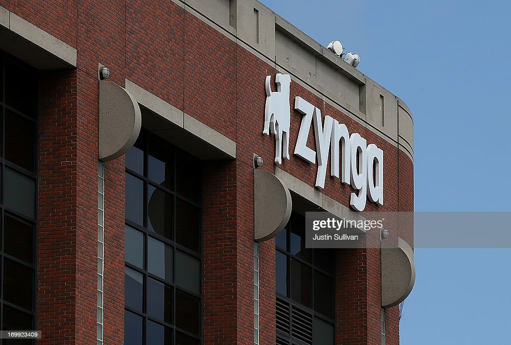 A sign is posted on the exterior of the Zynga headquarters on June 4, 2013 in San Francisco, California. Mobie game maker Zynga announced on Monday that they will cut 18 percent of their workforce and shut down offices in Los Angeles, Dallas and New York. The layoffs will save the struggling company an estimated $70 to $80 million.