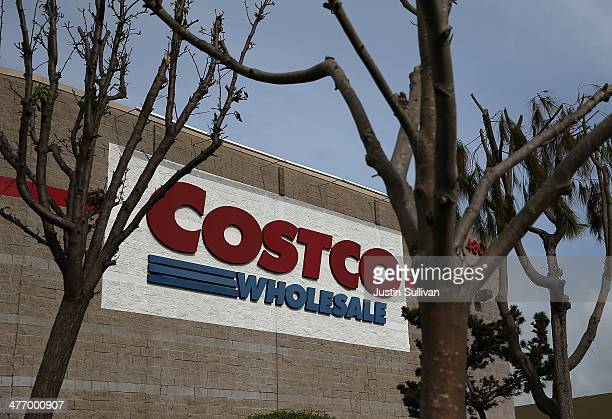 A sign is posted on the outside of a Costco store on March 6 2014 in Richmond California Costco Wholesale reported a 15 percent drop in secnd quarter...