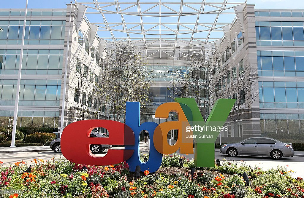 A sign is posted outside of the eBay headquarters February 24, 2010 in San Jose, California.