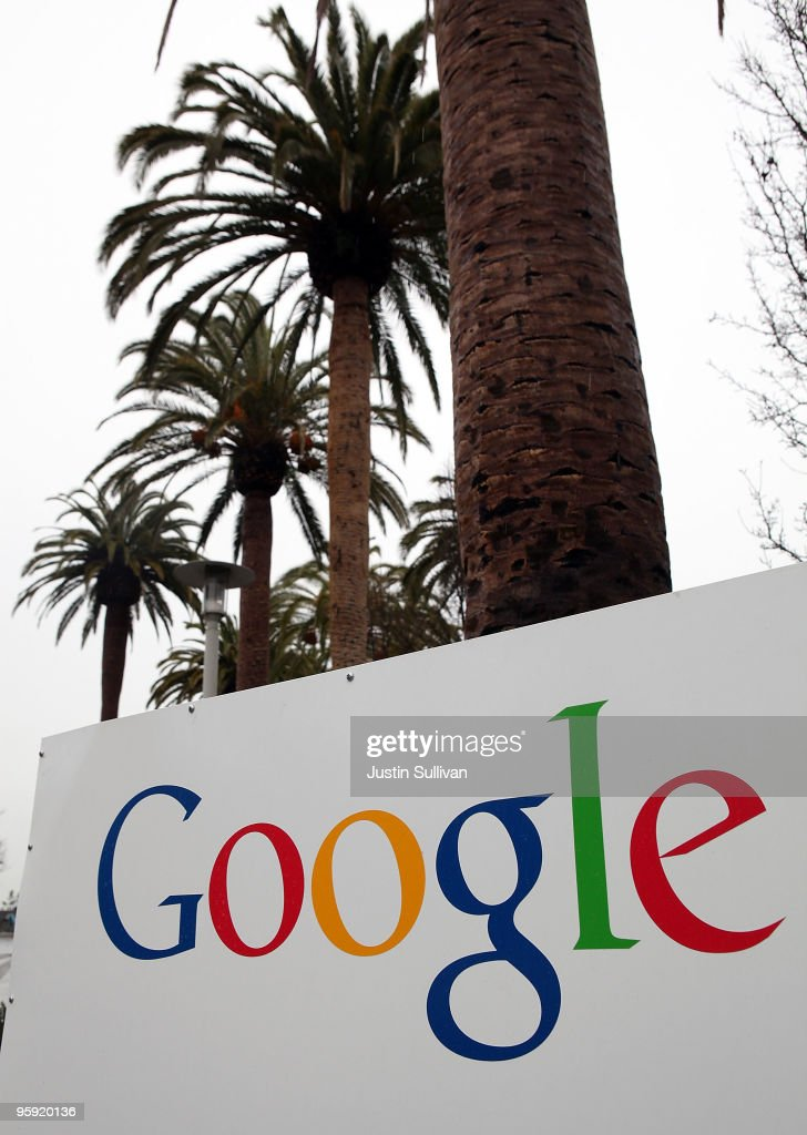 A sign is posted outside of the Google headquarters January 21, 2010 in Mountain View, California. Google will report fouth quarter earnings today.