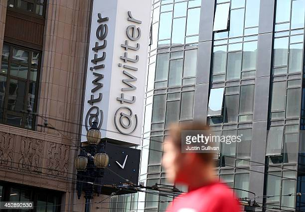A sign is posted outside of the Twitter headquarters on July 29 2014 in San Francisco California Twitter will report second quarter earnings today...