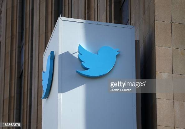 A sign is posted outside of the Twitter headquarters on October 25 2013 in San Francisco California Twitter announced that it has set a price range...