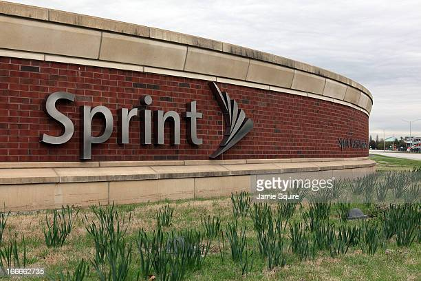 A sign is seen in front of the Sprint Nextel operational headquarters after Dish Network made a $255 billion bid for the company on April 15 2013 in...