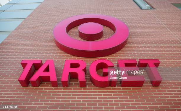 A sign is seen on the exterior of a Target store July 2006 in Chicago Illinois Heightened concerns that energy prices are slowing consumer spending...