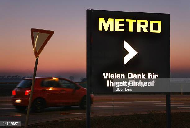A sign is seen outside a Metro AG Cash Carry store in Weiterstadt Germany on Thursday March 15 2012 Metro AG Germany's largest retailer said it will...